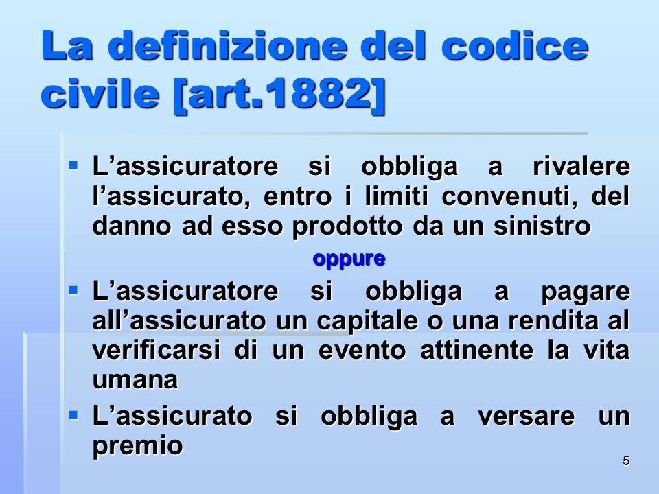 La definizione del codice civile [art.1882]
